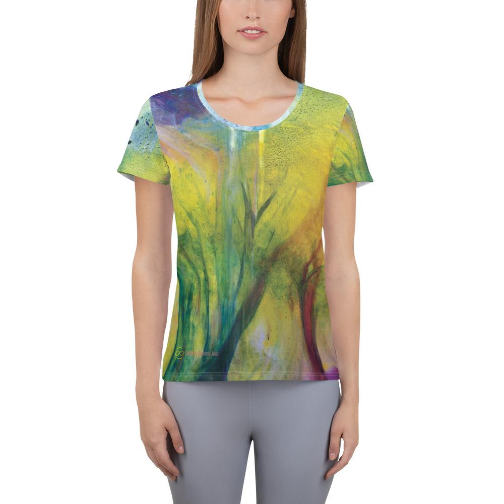 Sport-T-Shirt für Damen mit All-Over-Druck